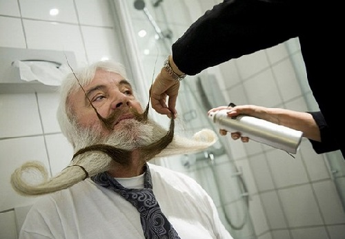 Original Beard and Moustache. Championship in Trondheim, Norway