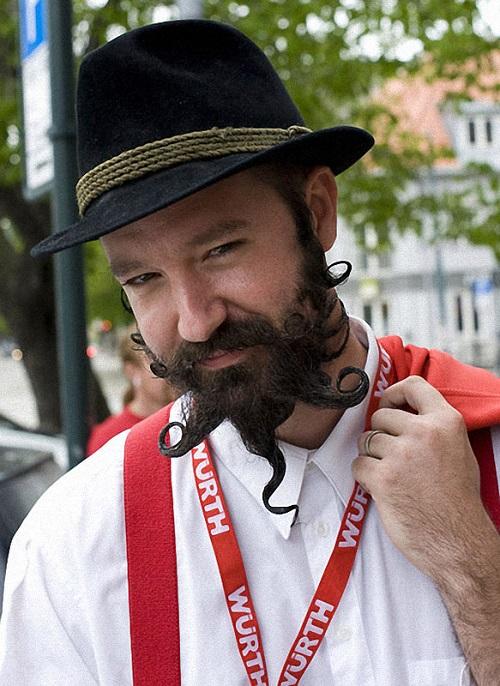 Beard design. The 2011 World Beard Mustache Championship in Trondheim, Norway