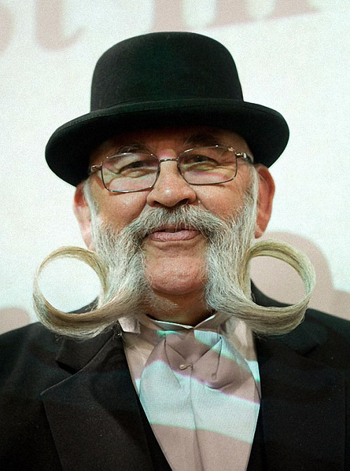 Circles of beard and moustache
