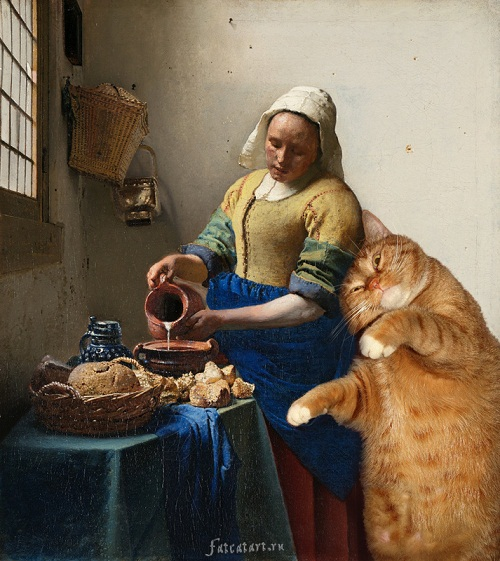 Fat cat Zarathustra in classical paintings