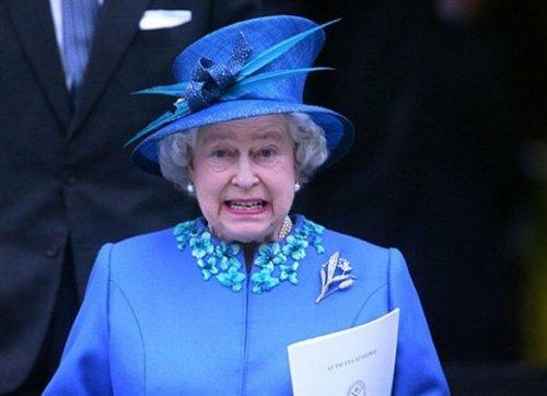Blue set of Queen Elizabeth II