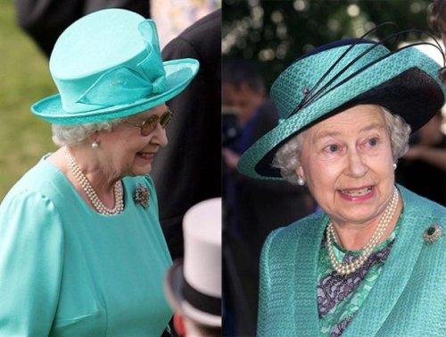 Violet. The Queen of hats Elizabeth II