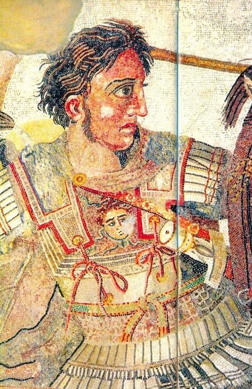 fragment of fresco (scanned). Unicorn