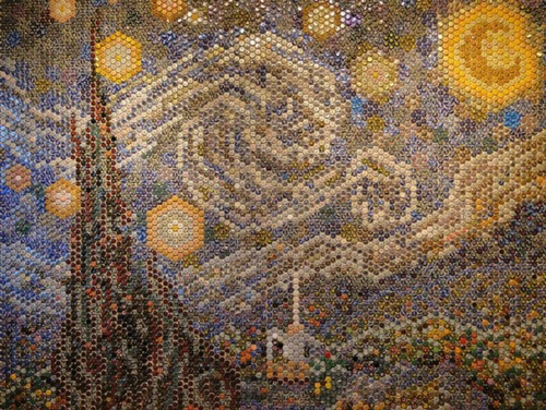 Photomosaic on Van Gogh