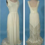 Crape wedding dress, 1930