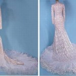 Stunning Wedding Dress of guipure, 1980
