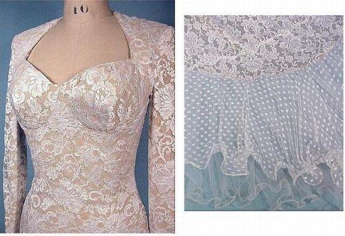 Guipure wedding dress, 1980