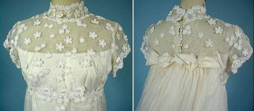 Organza, embroidered with a removable cable. 1974