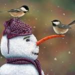 Winter paintings by Kim Norlien