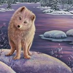 A polar fox. Winter paintings by contemporary American artist Kim Norlien