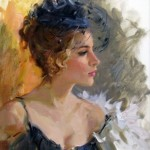 Worshipping beauty, paintings by Russian artist Konstantin Razumov