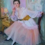 Morning glory. Women in paintings by Russian artist Konstantin Razumov