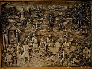 Inspired by history Woodcarving by Russian artist Kronid Gogolev
