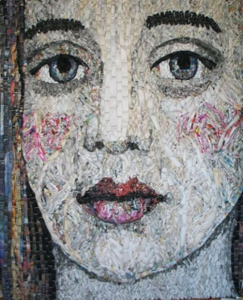Woven Newspaper Portraits by Gugger Petter