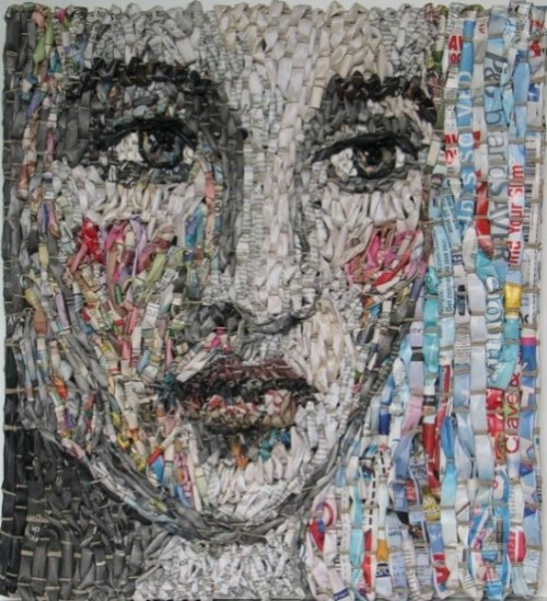 Newspaper Portraits by Gugger Petter