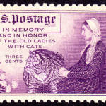 In a postage stamp, issued in USA in 1934