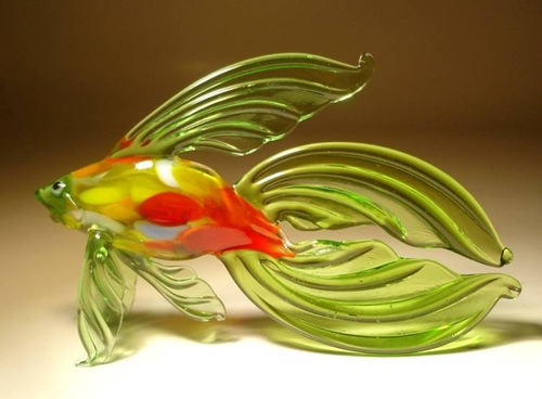 Fused and kiln-formed glass sculpture