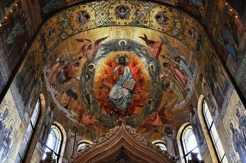 Interior decoration of the church of the Savior on Blood