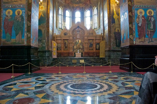 Stunning interior decoration of the church