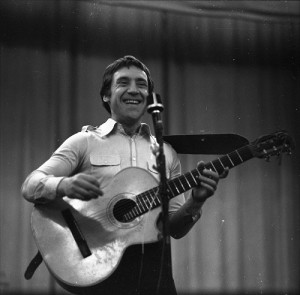 Performing with his songs Vladimir Vysotsky