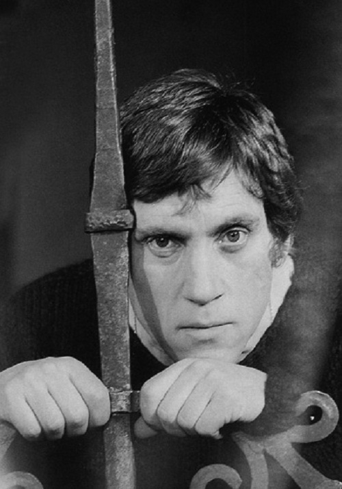 In the role of Hamlet, actor Vysotsky