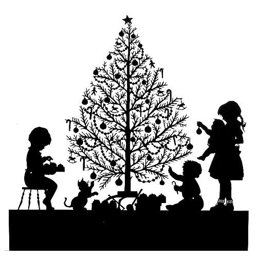 Christmas tree. Paper cut art by Beth White