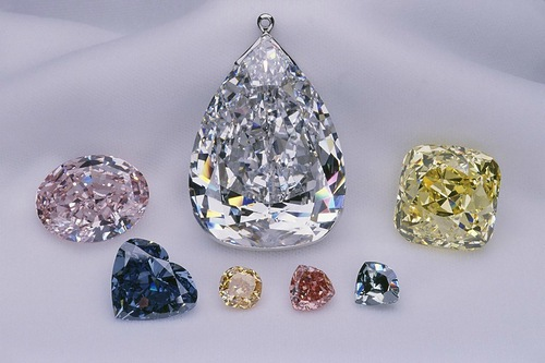 The Millennium Star, the Heart of Eternity, the Pumpkin Diamond, the Allnatt Diamond, the Ocean Dream, and the Steinmetz Pink