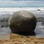 The Moeraki Boulders, Koekohe Beach, Otago coast of New Zealand.