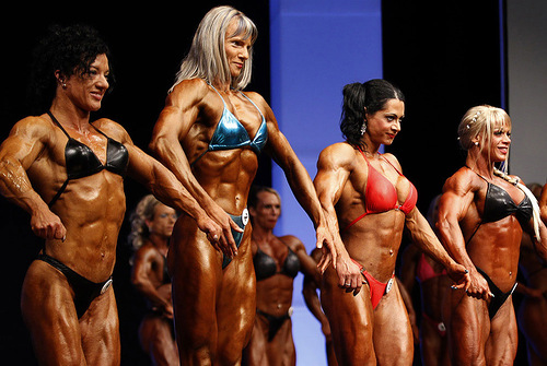Beautiful women engaged in Female bodybuilding