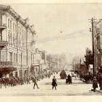 Crowded streets of Vladivostok. 19th century - early 20th century