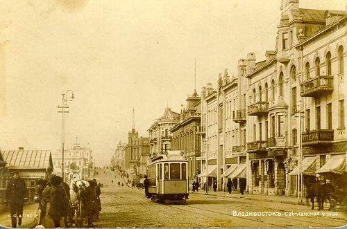 First trams in Vladivostok