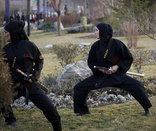 Able to protects themselves Iranian women