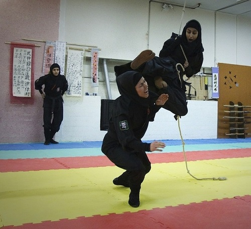 Learning to be perfect warriors, Iranian women