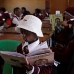 Phalatse reads to the class
