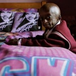 Aging fast, Ontlametse in her room in the style of Hannah Montana