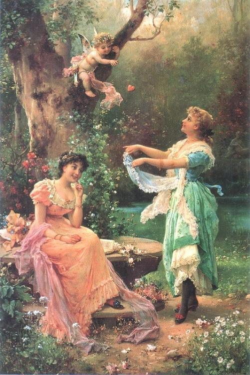 Painting by Austrian artist Hans Zatzka