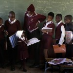 Among classmates, South African Progeria Girl