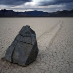 Creeping stones of Death Valley