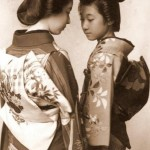 Young and beautiful girls known as Geisha