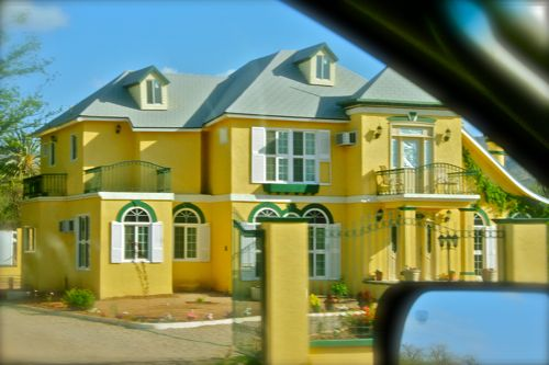 Houses painted yellow