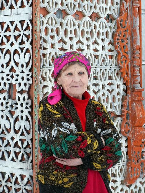 Wife of woodcarver Konstantin Muratov