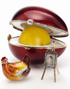 """Kelekh Hen"" Repeats the iconography of the first emperor ""Chicken"" eggs. First owner - Barbara Kelch-Bazanova. collection of Vekselberg."