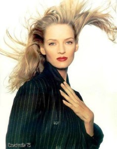 American actress Uma Thurman