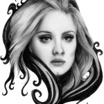 Drawing by Julia. Singer Adele