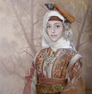 Female beauty in folk paintings of Maria Ilieva, Bulgarian artist