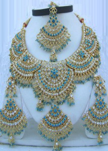 beautiful Bollywood crystal jewellery