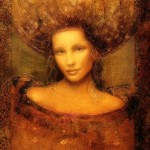 Muses and the Artist drawing. Beautiful female portraits by Hungarian artist Csaba Markus