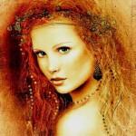 Renaissance women in painting by Hungarian artist Csaba Markus