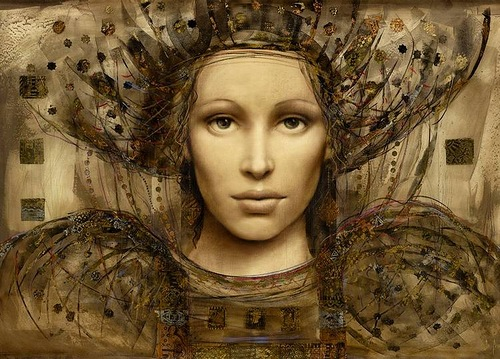Renaissance women in painting by Hungarian artist Csaba Markus