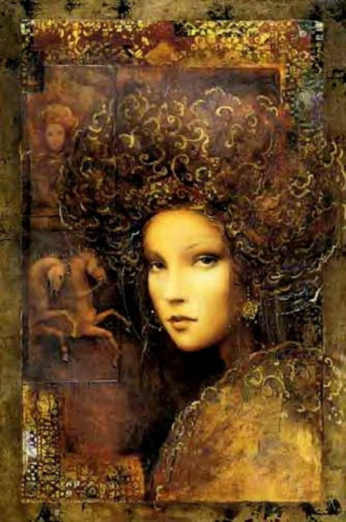 Painting by Csaba Markus, Beautiful female portraits by Hungarian artist